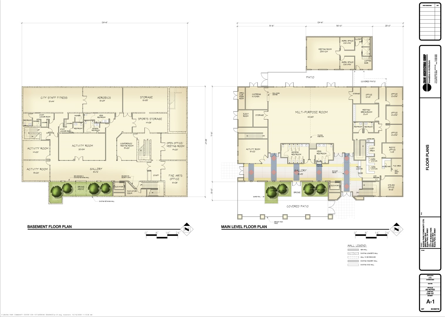 X:BUENA PARK COMMUNITY CENTER C09-107WORKING DRAWINGSA-01.dwg